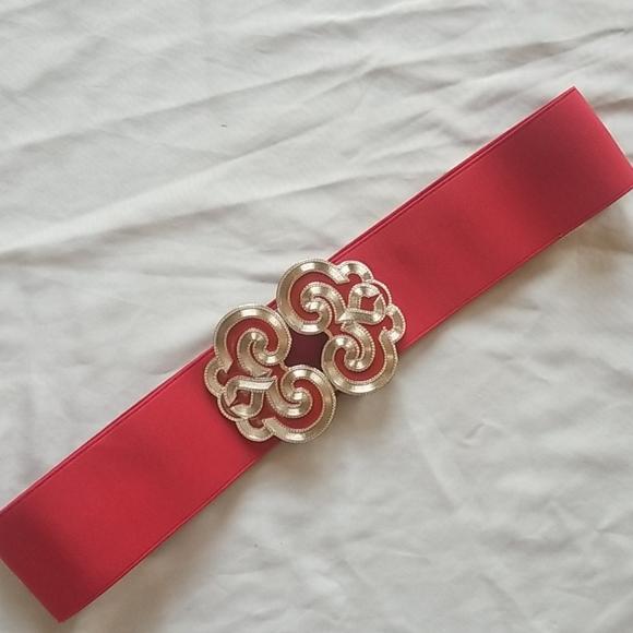 NWOT KOHL'S Fire Nation red stretch belt, L/XL